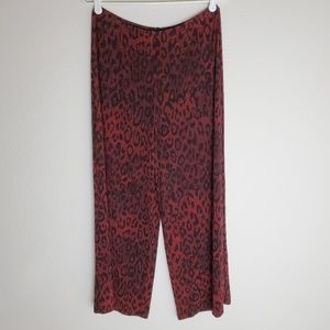 Chico's Travelers Wide Leopard Stretch Pants